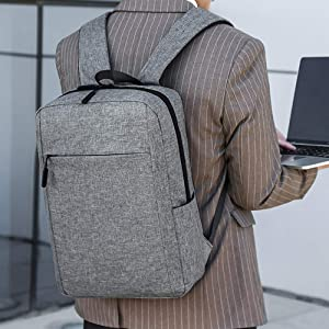AOAN Modern Simplicity Business Laptop Backpack, Slim Durable College School Backpack for Men and Women, Lightweight Travel Computer Bag Fits under 15.6 inch Laptop and Notebook