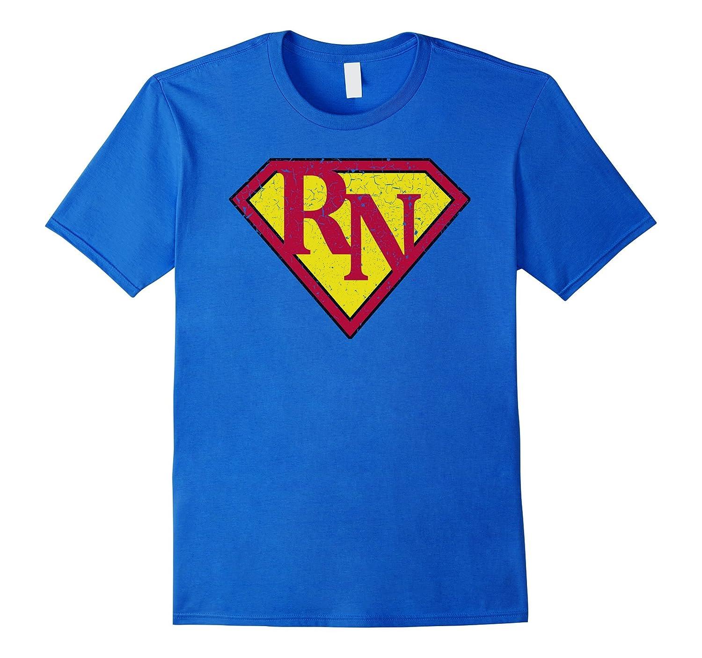 Vintage RN SUPER NURSE T-Shirt Funny Distressed Shirt-CD