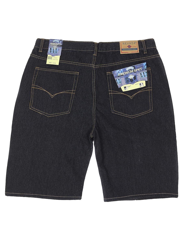 Nevada Mens Multi Pocket Slim Fit Denim Jean Shorts Big Plus Sizes