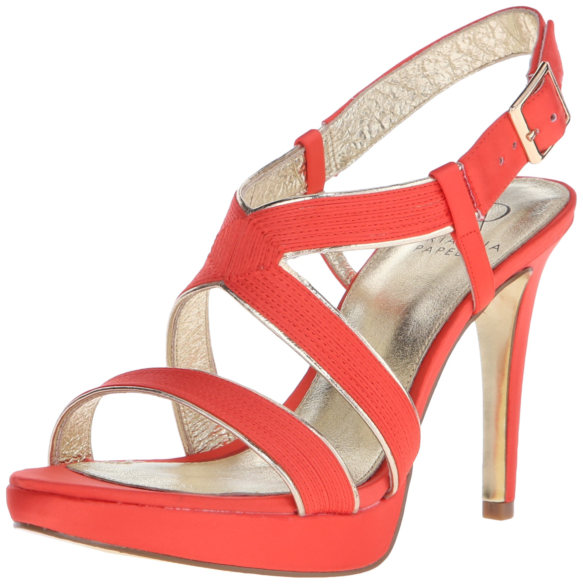 Adrianna Papell Women's Anette Platform Dress Sandal, Coral, 7 M US