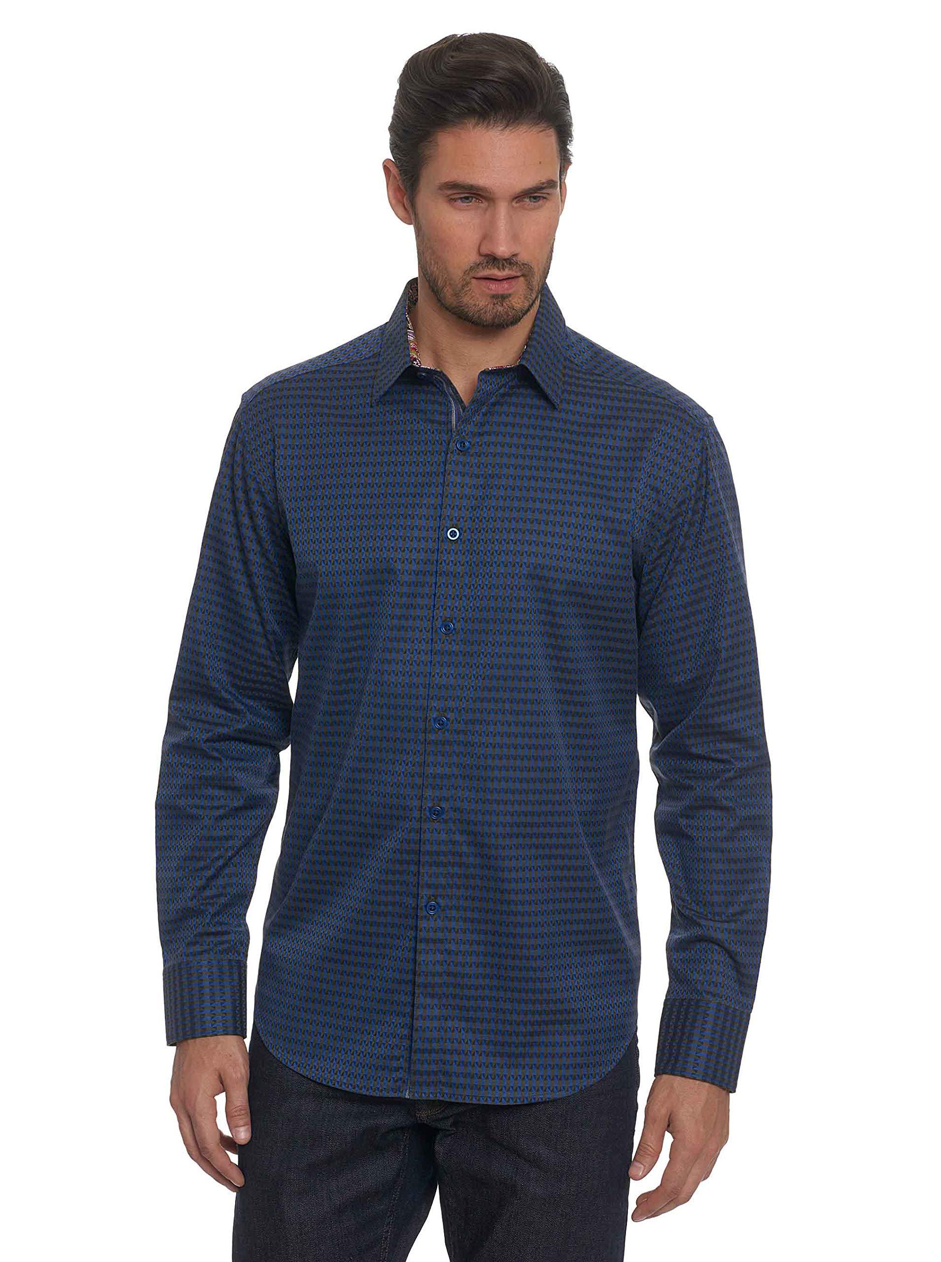 Robert Graham Men's Dogwood L/s Classic Fit Shirt, Olive 4XL