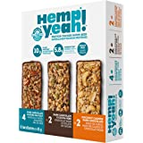Manitoba Harvest Hemp Yeah! Bars Variety Pack (8 Bars), 10g Plant Protein, Grain Free, Gluten Free, 6g Omegas 3&6…