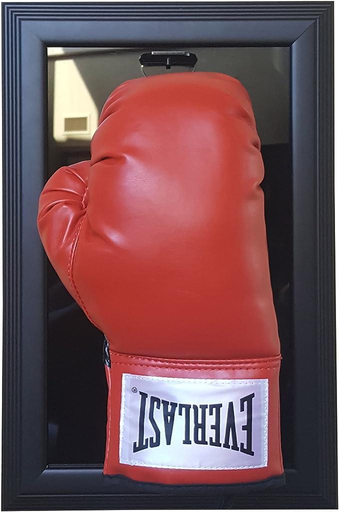 Black Frame Caseworks International Double Boxing Glove Case-Up Display Case