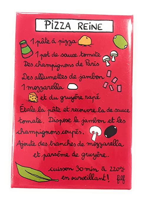 Serie de 6 Magnet imán nevera - receta de tarta - DLP Derrière la ...