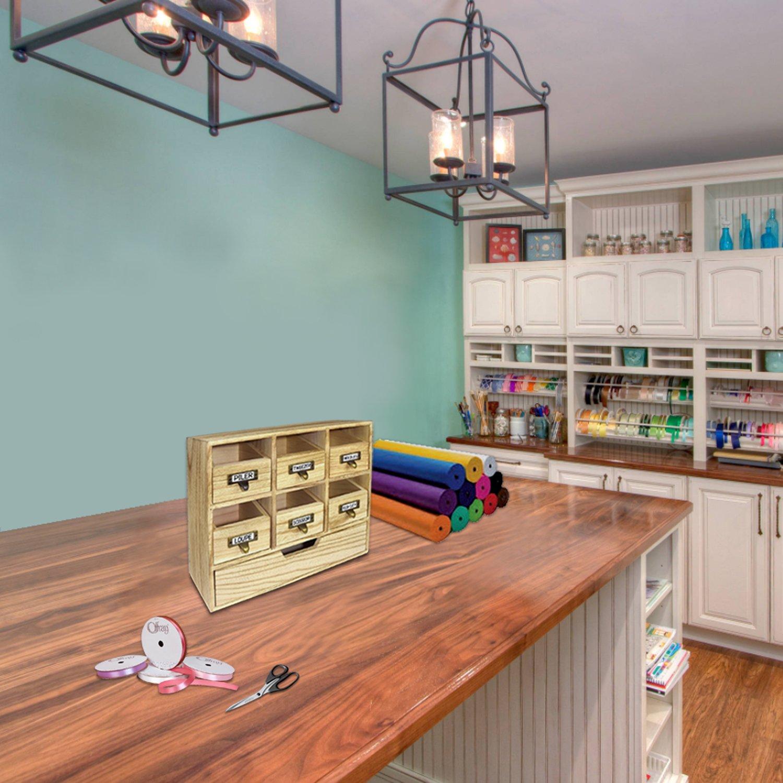 Amazon.com : Wooden Desktop Drawers /Craft Supplies Storage Cabinet ...