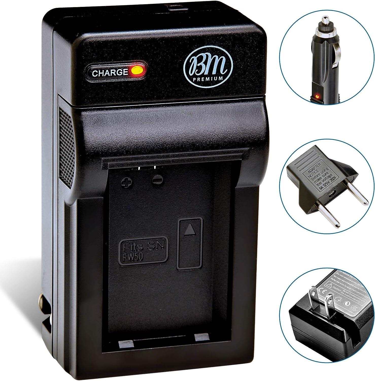 NP-FW50 Battery Charger for Sony A6100, A6400, DSC-RX10 II, DSC-RX10 IV, Alpha 7, A7R, A7R II, A7S, AS7 II, A3000, A5000, A5100, A6000, A6300, A6500, NEX3, NEX5, NEX5K, NEX6, NEX7, SLT-A35, A37, A55
