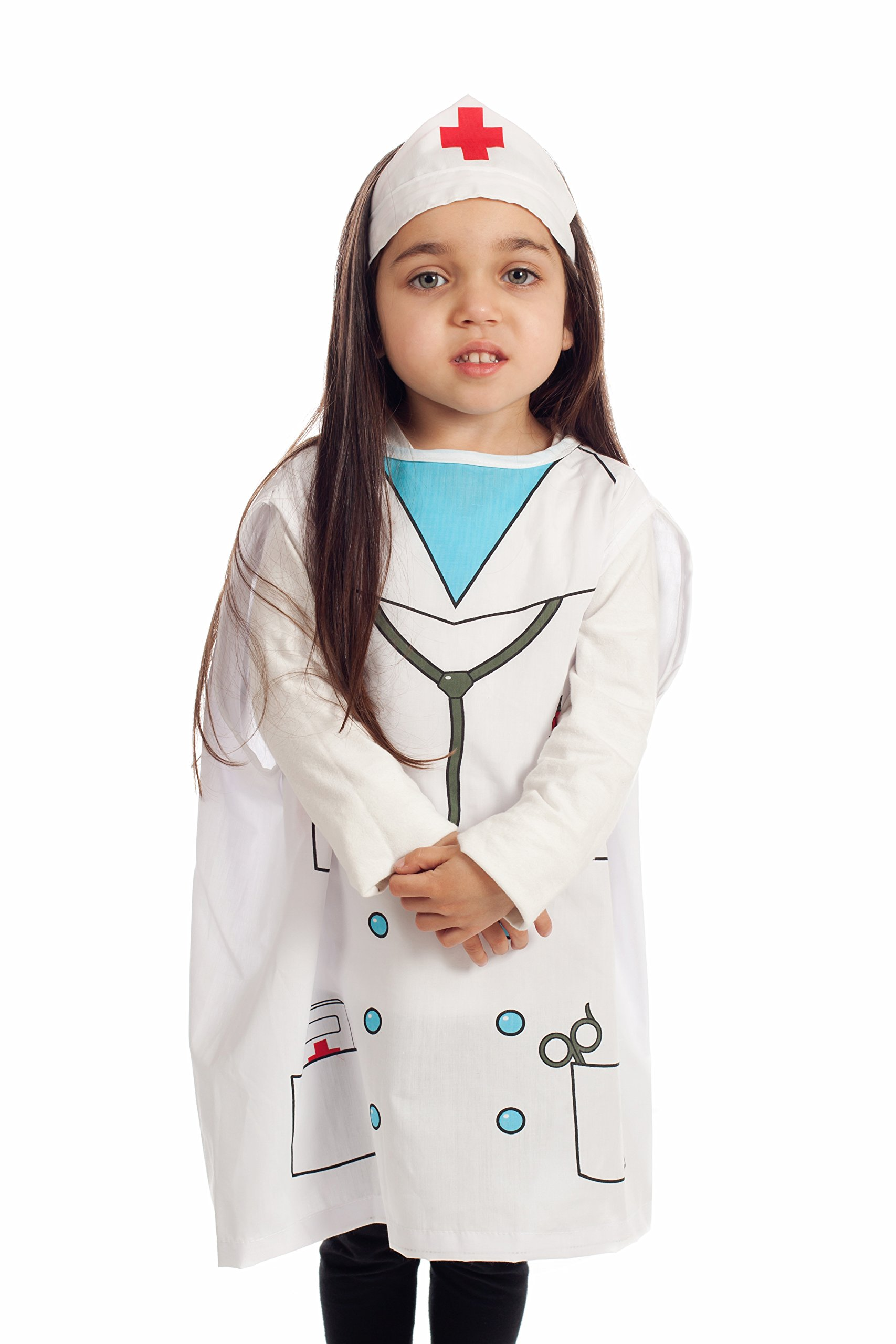 IQ Toys 6 Pieces Dress Up Costumes Fireman Gotham Cook Nurse Clown Witch by IQ Toys (Image #4)