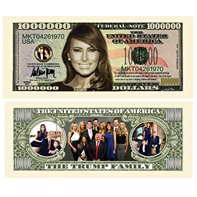 American Art Classics Pack of 5 - Melania Trump - First Lady - First Family Million Dollar Bill: Toys & Games