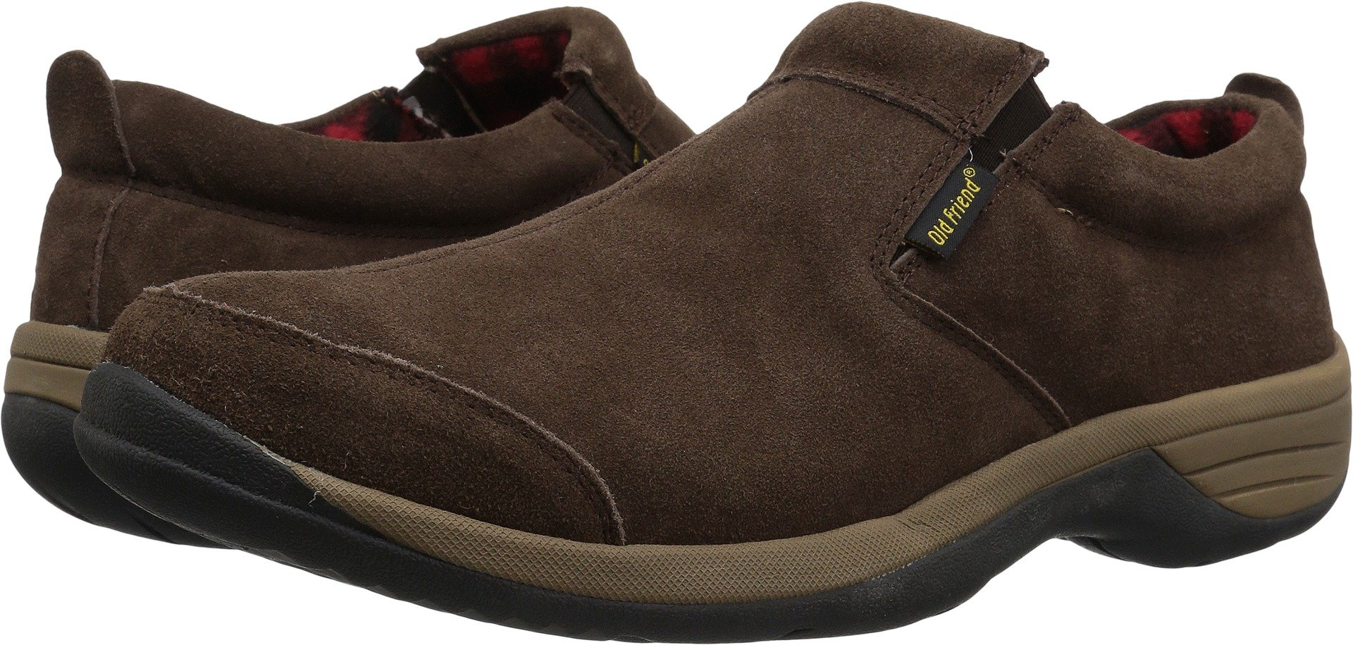 Old Friend Men's Adirondack Moccasin, Chocolate Brown, 15 M US