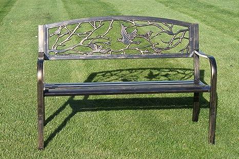 Panchine Da Giardino In Ghisa : Panchina da giardino in metallo con uccelli in ghisa design
