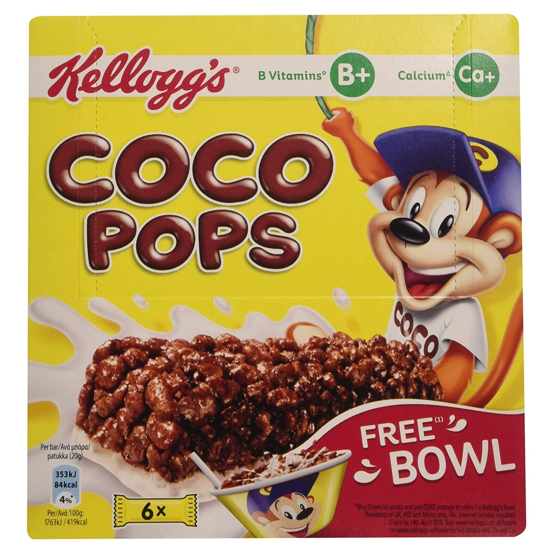Kellogg's Coco Pops Snack Bar (Pack of 6 bars), 120g