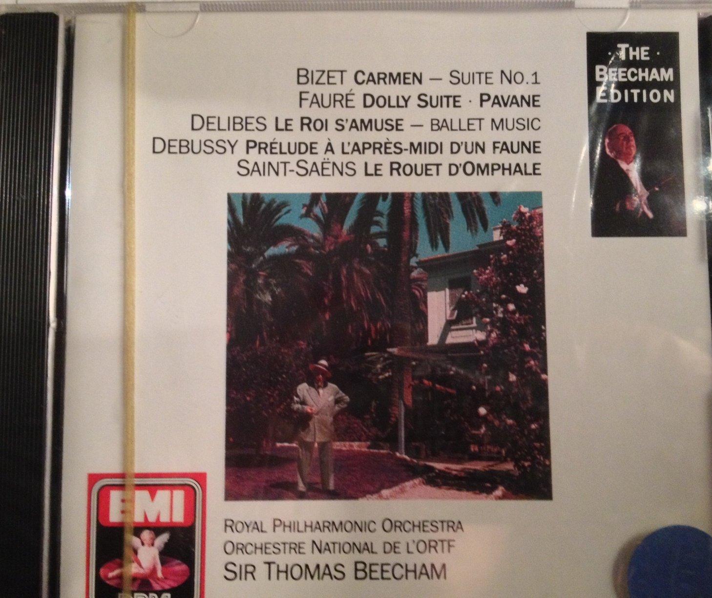 Beecham conducts Bizet: Carmen Suite; Faure: Pavane; Debussy: Prelude a L'apres-midi D'un Faune Etc
