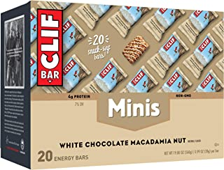 product image for CLIF BAR - Mini Energy Bars - White Chocolate Macadamia Nut Flavor - (0.99 Ounce Snack Bars, 20 Count)