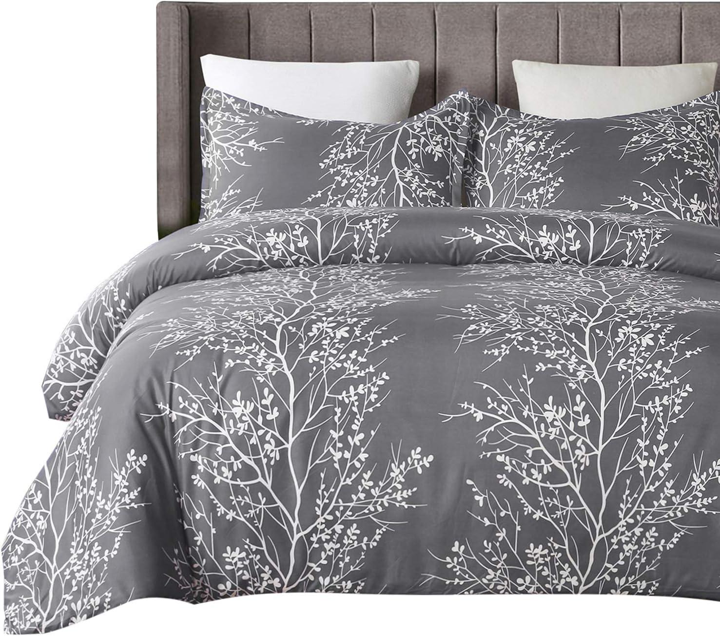 Amazon.com: Vaulia Lightweight Microfiber Duvet Cover Set, Grey