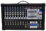 Rockville RPM109 12-Channel 4800 Watt Powered Mixer USB, 48V For Church/School