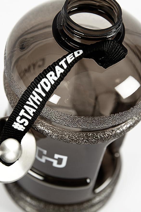 Gymjunky - Botella para el agua, 2,2 L, ideal para uso deportivo, color negro: Amazon.es: Deportes y aire libre