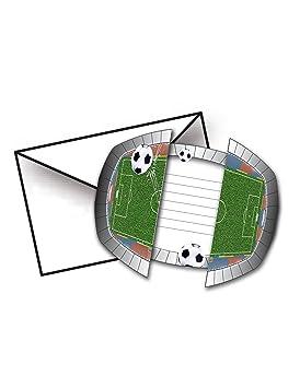El folato - 8 tarjetas de invitación   estadio de fútbol   para la fiesta y 0c204ab19034a