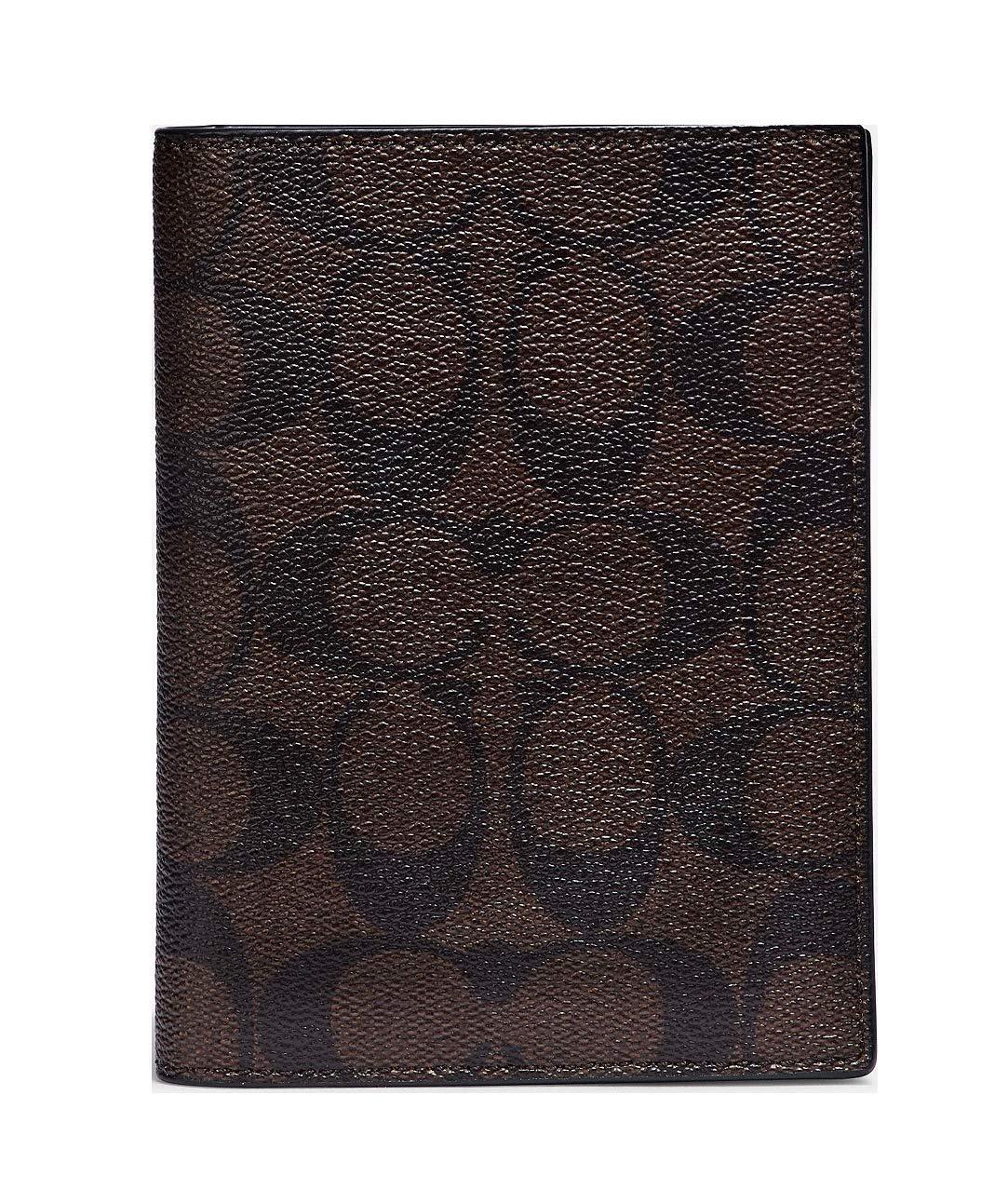Coach Passport Case in Signature Canvas - Mahogany/Black $125