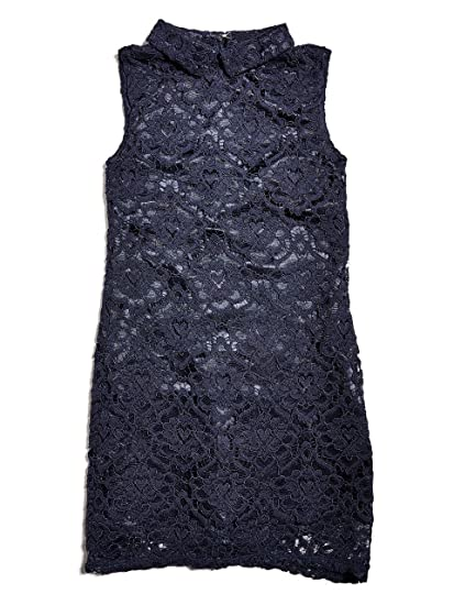bf267a8171e Amazon.com: GUESS Girl's Sleeveless Lace Dress (7-14): Clothing