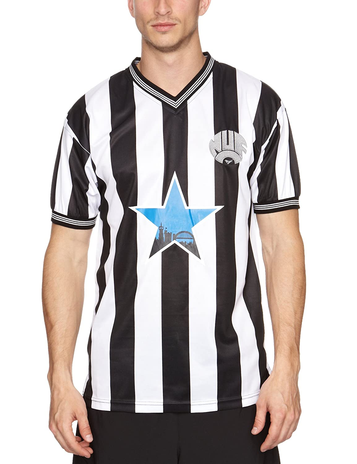 Large Score Draw Official Retro Newcastle United 1984 Shirt