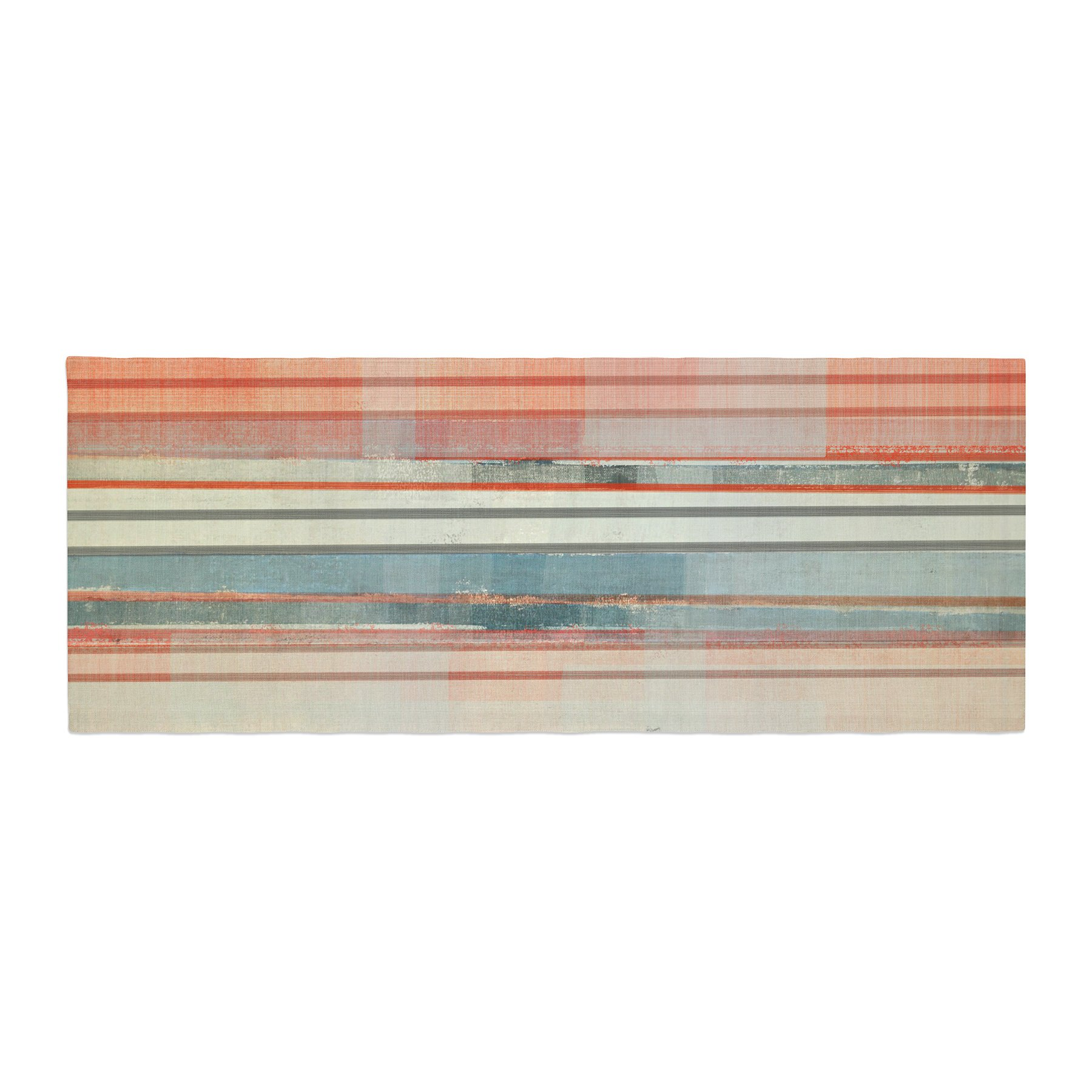 Kess InHouse CarolLynn Tice Patton Orange Teal Bed Runner, 34'' x 86''