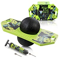 Flybar Pogo Ball for Kids, Jump Trick Bounce Board with Pump and Strong Grip Deck