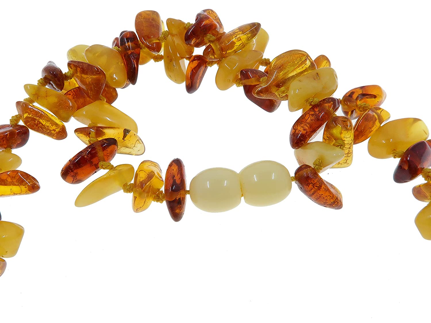 22 Amber Necklace Boutique Multi-Colored Yellow Orange Red Authentic Baltic Gemstone Knotted Lithuanian B09