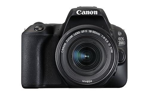 Canon EOS 200D Digital SLR Camera with EF-S 18-55 mm f/4-5.6 IS STM Lens - Black