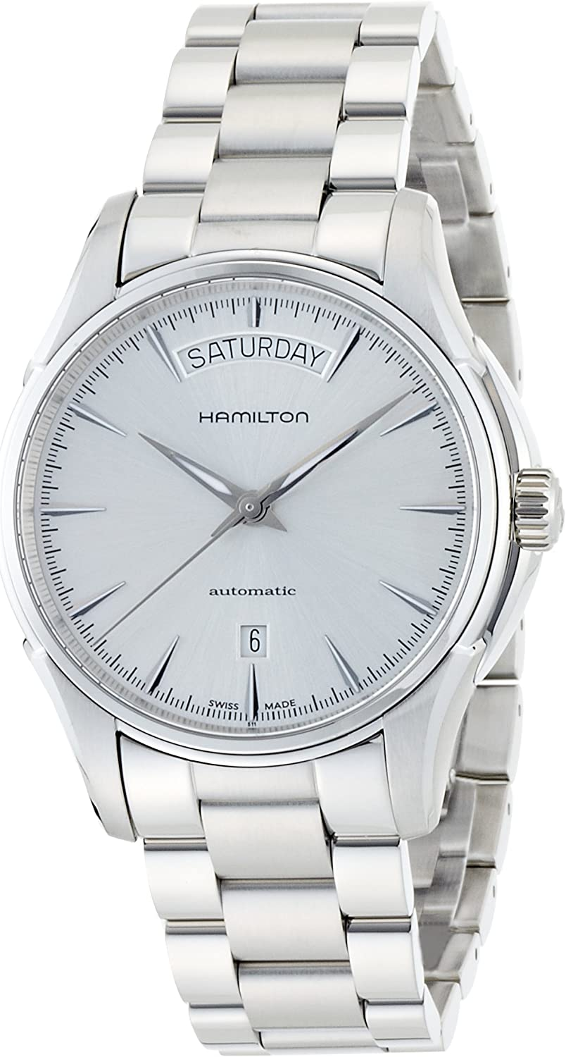 Hamilton Men s H32505151 Jazzmaster Analog Display Automatic Self Wind Silver Watch