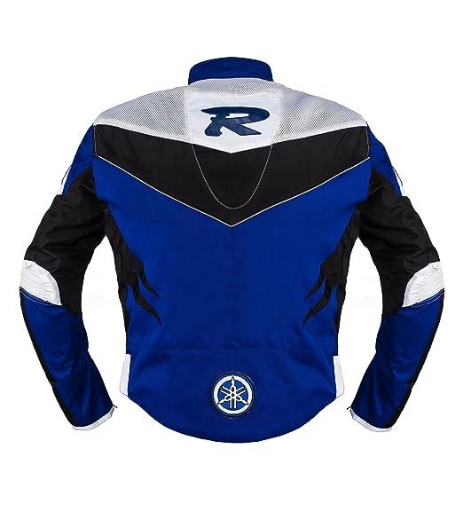 Yamaha Racing Azul Moto Chaqueta de Textil ((M (EU50)))