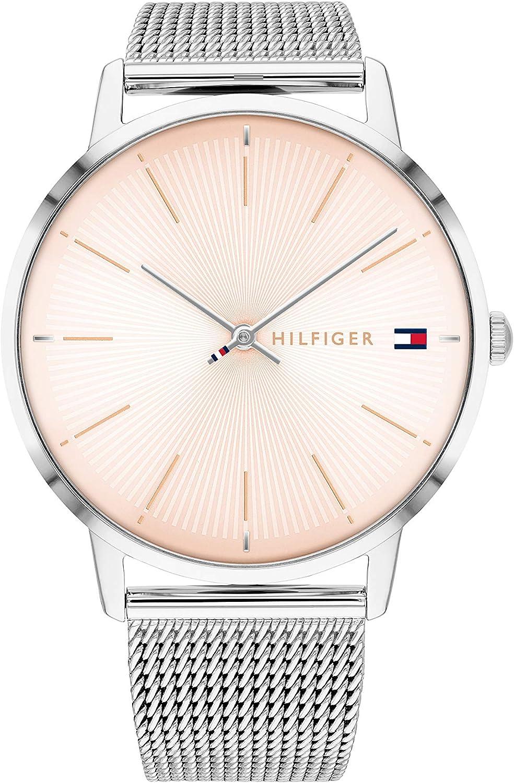 Tommy Hilfiger Reloj Analógico para Mujer de Cuarzo con Correa en Acero Inoxidable 1782244