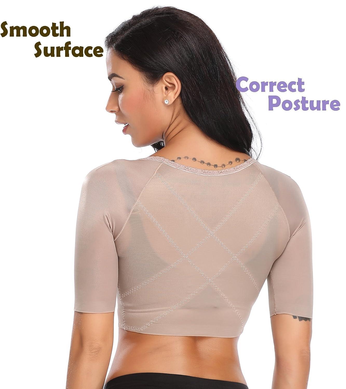 4c5ebfac15612 SLIMBELLE Womens Seamless Arm Shaper Slim Upper Sleeves Top Body Shaper  Compression Vest Posture Corrector