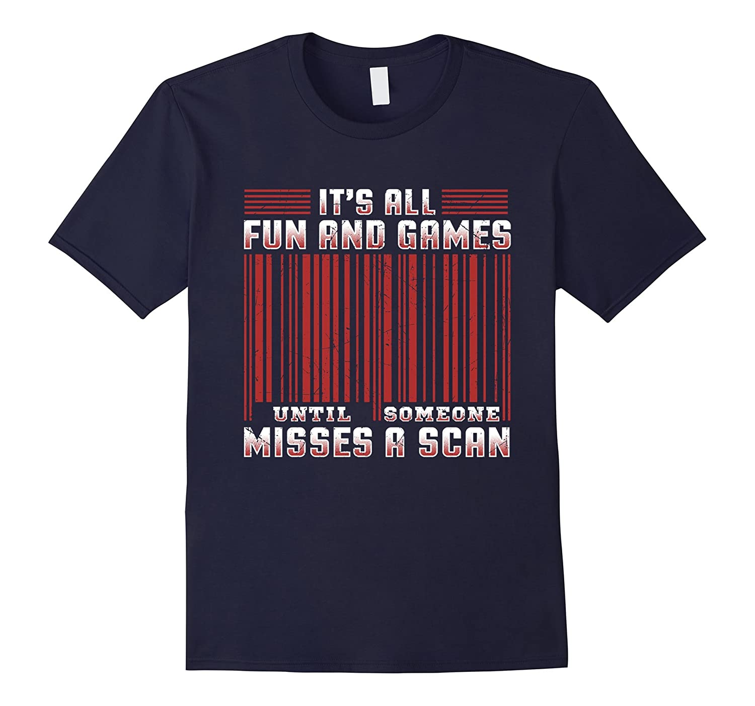 Funny Postal Worker T Shirt Fun  Games Someone Misses Scan-TD