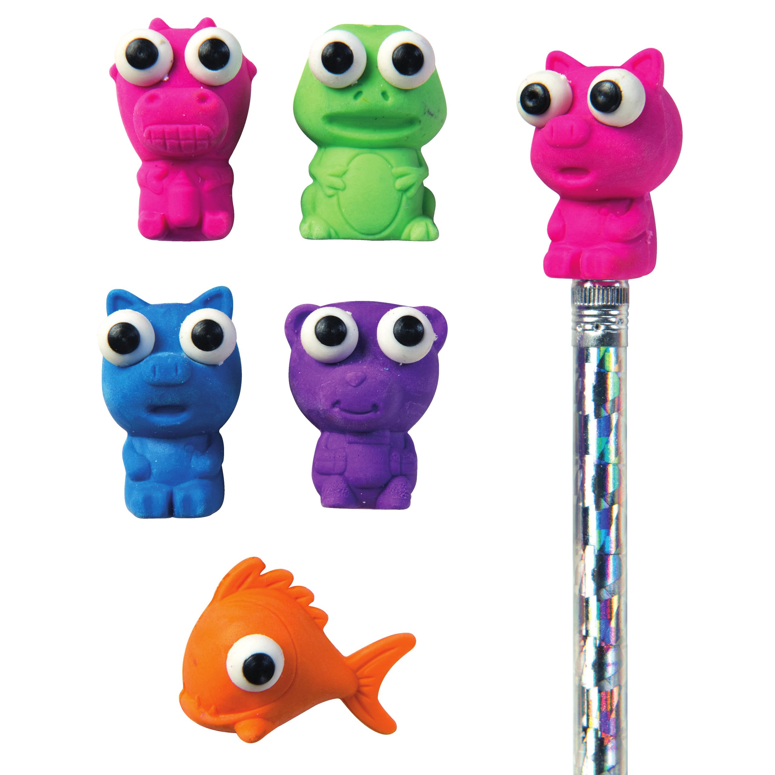 Raymond Geddes Here's Looking at You Eraser Pencil Toppers, Set of 50 (69005)