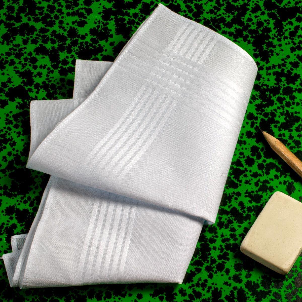 3 pezzi in confezione regalo. Fazzoletti bianchi /« Clement /»