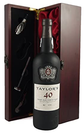 Taylor\'s 40 year old Tawny Port 75CL presented in a silk lined ...