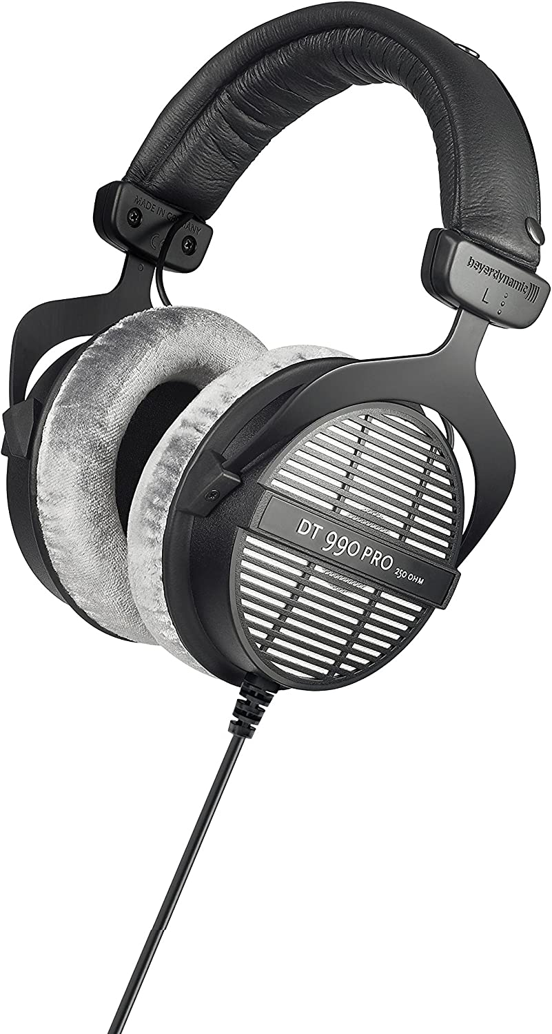 beyerdynamic DT 990 Pro 250 ohm Headphones, Gray, (459038)