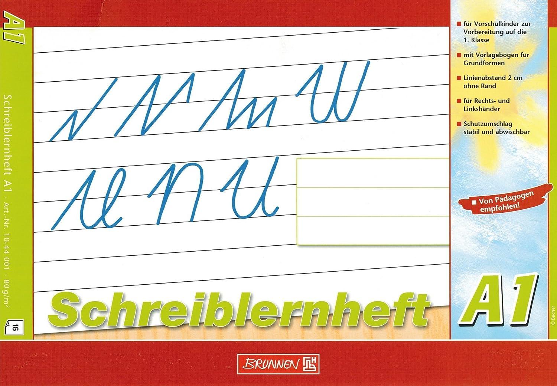 Schreiblernheft A4 quer Lin A1 Brunnen 1044001