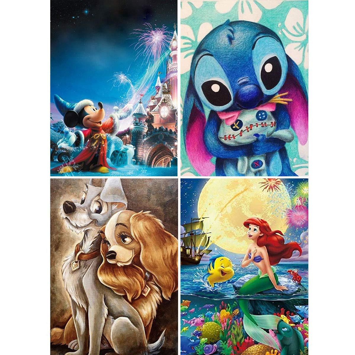 4 Pinturas por Diamantes Kit Completo Disney - 8G8SFK9W