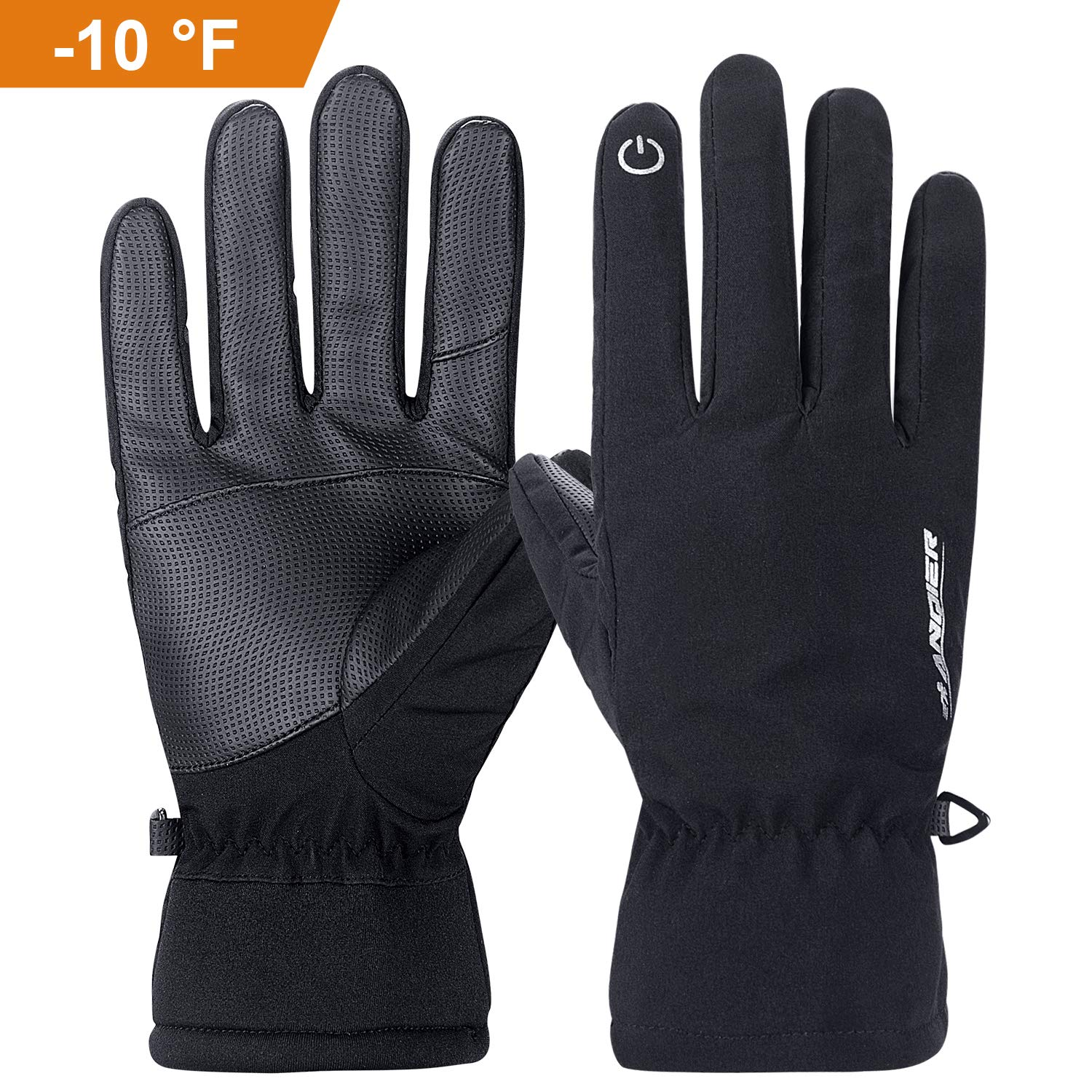 Anqier Winter Warm Touch Screen Gloves -10°F(-23℃) Cold Proof Thermal 3M Thinsulate Work Outdoor Sports Glove Windproof Water-Resistant Warm Hands in Cold Weather for Women Men