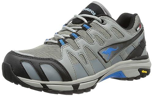 KangaROOS Vojak WP Women - Zapatos de senderismo de material sintético unisex, color gris, talla 41