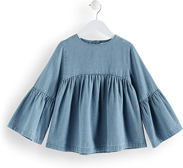 Marchio RED WAGON Blusa Plissettata in Chambray Bambina