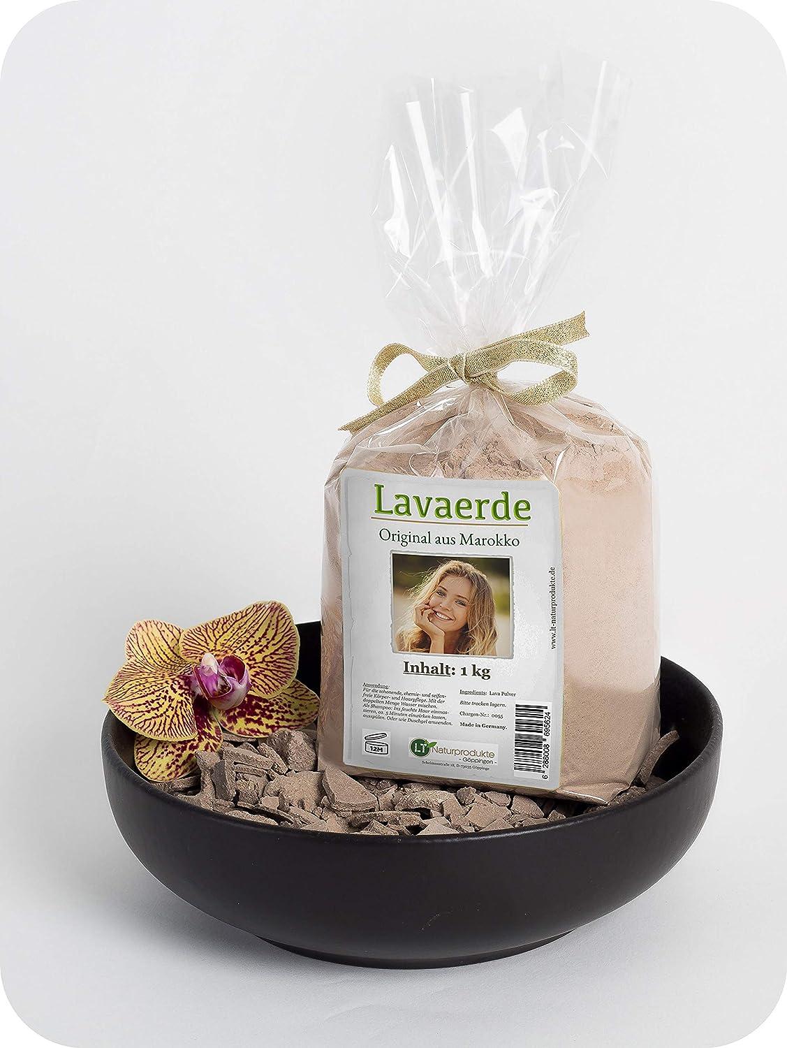 Polvo de arcilla / Ghassoul | Original de Marruecos | 1kg | Polvo fino para el cuidado del cabello y del cuerpo sin químicos | Vegano | Rhassoul | Anticaspa