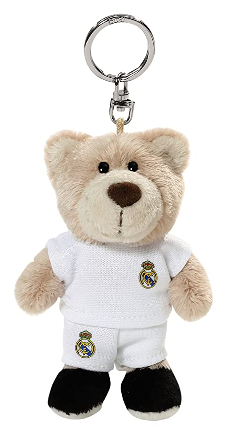 Real Madrid - Llavero Bean Bag Osito, 10 cm (NICI 16730)