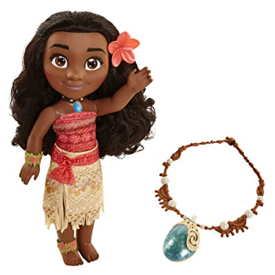 Disney Moana Adventure With Magical Seashell Necklace Doll: Toys & Games