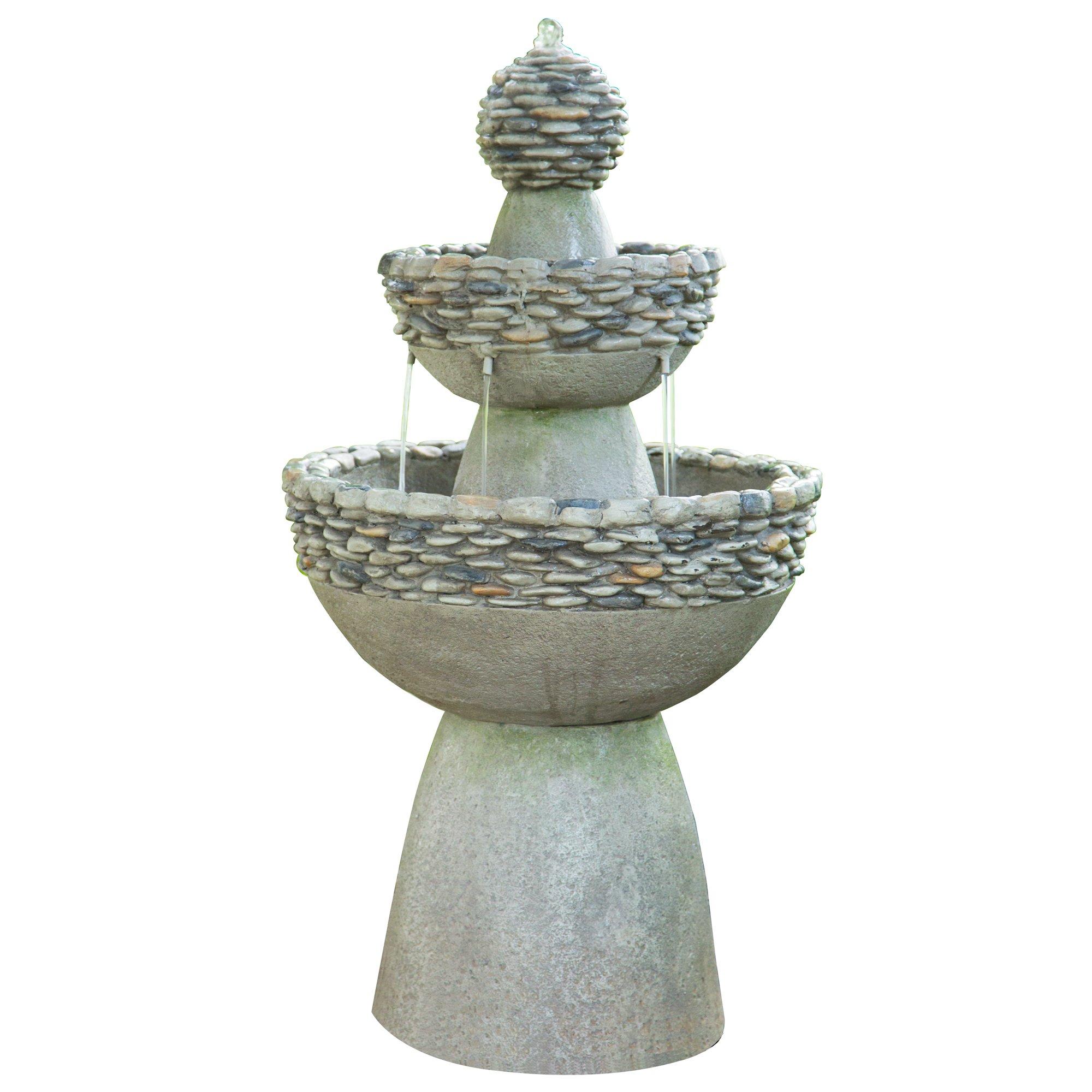 Peaktop Outdoor Garden Zen 3 Level Fountain