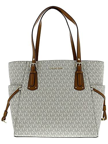 44cad68dd2e41b Amazon.com: MICHAEL Michael Kors E/W Voyager Signature Tote: Michael Kors:  Shoes