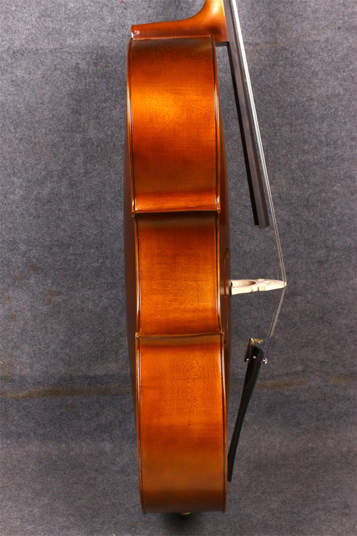 Yinfente Electric Acoustic Cello 4/4 Solid Maple Spruce wood Ebony Fittings Sweet Sound With Cello Bag Bow (Brown) by yinfente (Image #9)