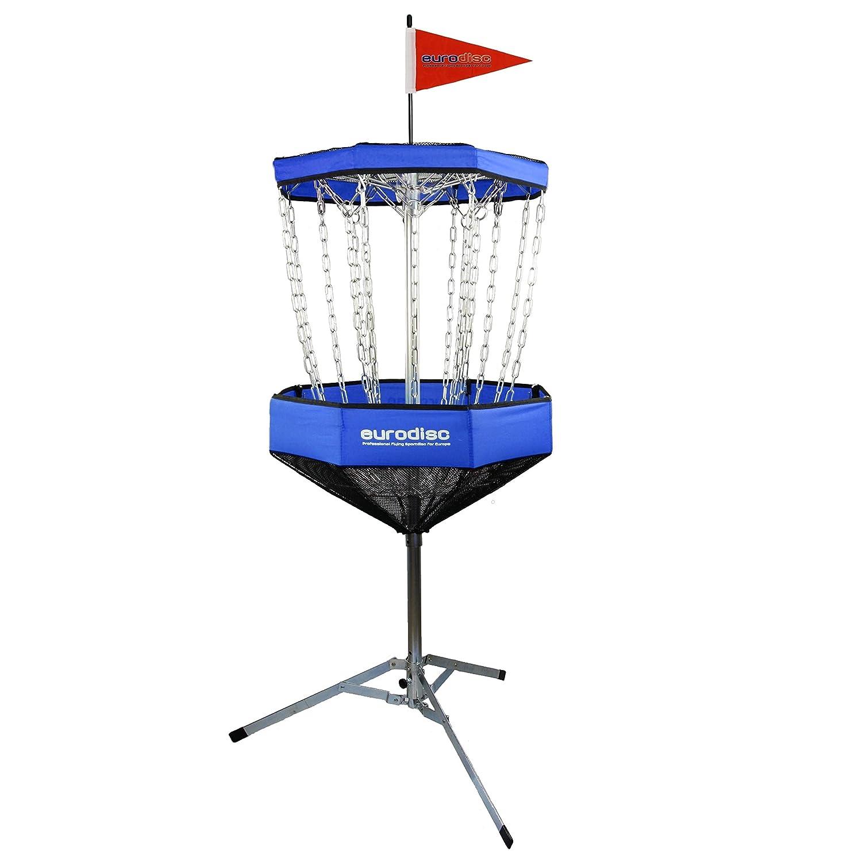 Eurodisc CHAINWALKER BLAU Disc Golf Korb ähnlich DGA Mach-Lite, inkl. 1x Putter