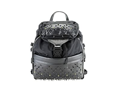 Amazon.com: Alexander Mcqueen Tech Spiked Backpack - Solid Black ...